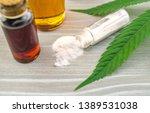 cannabidiol cbd oils  and... | Shutterstock . vector #1389531038