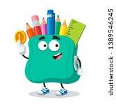 cartoon school soft pencil case ... | Shutterstock .eps vector #1389546245