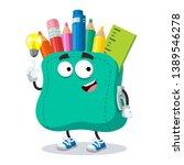 cartoon have an idea school... | Shutterstock .eps vector #1389546278