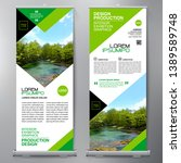 business roll up. standee... | Shutterstock .eps vector #1389589748