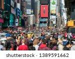 new york  usa   mar 2019   ... | Shutterstock . vector #1389591662
