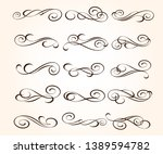 set of elegant decorative... | Shutterstock .eps vector #1389594782