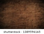 old grunge dark textured wooden ... | Shutterstock . vector #1389596165