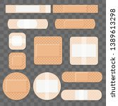 treatment aids medical plaster. ... | Shutterstock .eps vector #1389613298