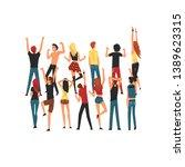 people dancing and having fun...   Shutterstock .eps vector #1389623315