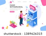 financial  withdrawal cash.... | Shutterstock .eps vector #1389626315