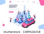 city location  cartography path ... | Shutterstock .eps vector #1389626318