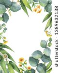watercolor hand painted card... | Shutterstock . vector #1389632138