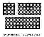 set of decorative vector panels ... | Shutterstock .eps vector #1389653465