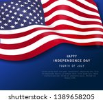 happy 4th of july holiday... | Shutterstock .eps vector #1389658205