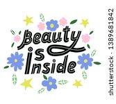 body positive lettering. hand... | Shutterstock .eps vector #1389681842