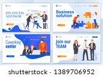 set of landing page design... | Shutterstock .eps vector #1389706952
