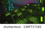 abstract  concrete futuristic... | Shutterstock . vector #1389717182