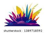 different exotic violet plants... | Shutterstock .eps vector #1389718592