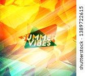 summer night party flyer.... | Shutterstock .eps vector #1389722615