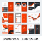 set of 9 double sided vertical... | Shutterstock .eps vector #1389723335