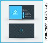 double sided horizontal modern... | Shutterstock .eps vector #1389723338