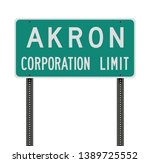akron corporation limit road... | Shutterstock .eps vector #1389725552