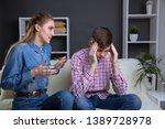upset frustrated girlfriend... | Shutterstock . vector #1389728978