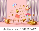 chaos abstract background with... | Shutterstock .eps vector #1389758642
