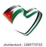 jordan flag  vector... | Shutterstock .eps vector #1389773732
