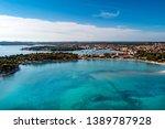 aerial view from medulin beach  ... | Shutterstock . vector #1389787928
