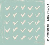vector confirm icons vintage... | Shutterstock .eps vector #1389791735