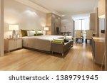 3d rendering luxury modern... | Shutterstock . vector #1389791945