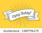 enjoy today. vintage trendy... | Shutterstock .eps vector #1389796175