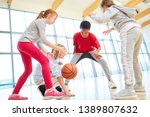 children's team plays... | Shutterstock . vector #1389807632