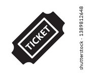 ticket icon in trendy flat...