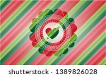 heart with arrow icon inside... | Shutterstock .eps vector #1389826028