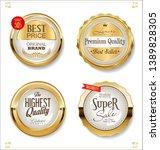 golden sale labels retro... | Shutterstock .eps vector #1389828305