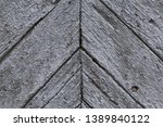 close up of old painted wooden... | Shutterstock . vector #1389840122