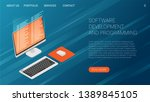software development and... | Shutterstock .eps vector #1389845105