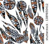 ethnic ornament pattern...   Shutterstock . vector #1389850412