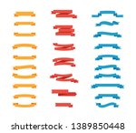set of colorful tapes in flat... | Shutterstock .eps vector #1389850448