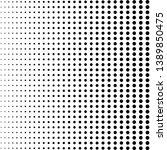 black halftone dots. black dots ... | Shutterstock .eps vector #1389850475
