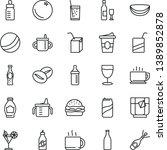thin line vector icon set   mug ...   Shutterstock .eps vector #1389852878