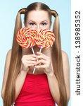 beautiful playful young... | Shutterstock . vector #138985352