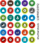 white solid icon set  bank... | Shutterstock .eps vector #1389853592