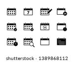 set of calendar icons. time and ...