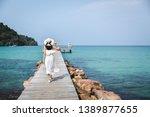 summer vacations concept  happy ... | Shutterstock . vector #1389877655