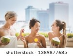 spa pool concept  group of... | Shutterstock . vector #1389877685
