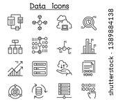 data  database  graph  chart ... | Shutterstock .eps vector #1389884138