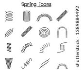 spring  coil and absorber icon... | Shutterstock .eps vector #1389884492