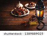 the muslim feast of the holy... | Shutterstock . vector #1389889025