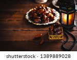 the muslim feast of the holy... | Shutterstock . vector #1389889028