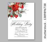 christmas party invitation... | Shutterstock .eps vector #1389896738