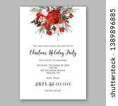 christmas party invitation... | Shutterstock .eps vector #1389896885